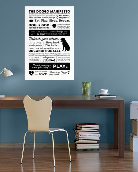 The-Doggo-Manifesto-BLACK-TEXT_mockup_Lifestyle-24x36-2